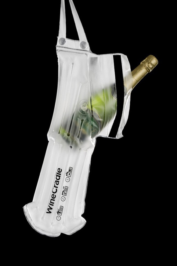 充气酒瓶购物袋